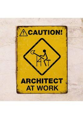Офисная табличка Архитектор за работой