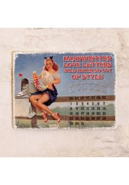 Жестяной календарь Love letters