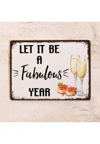 Прикольная жестяная табличка для бара - Пусть это будет чудесный год