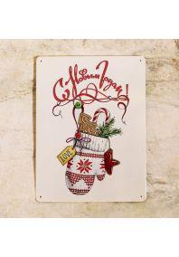 Новогоняя табличка для украшения стен, входа, балкона, дома и улицы  - С новым годом