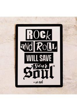 Жестяная табличка Rock-n-roll will save your soul