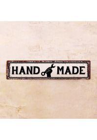 Жестяная табличка HAND MADE