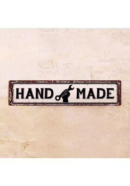 Жестяная табличка для гаража и мастерской HAND MADE