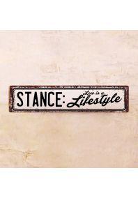 Жестяная табличка Stance