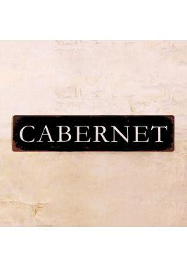 Жестяная табличка Каберне винтажная
