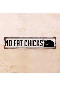 Жестяная табличка No Fat Chicks