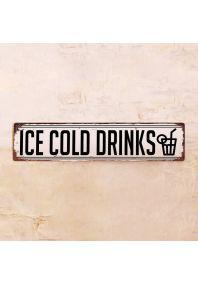 Жестяная табличка Ice Cold Drinks