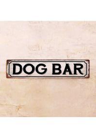 Жестяная табличка Dog Bar