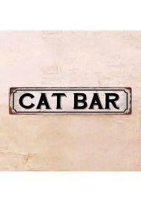 Жестяная табличка Cat Bar