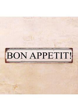 Жестяная табличка Bon Appetit!