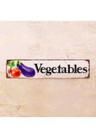 Жестяная табличка Vegetables