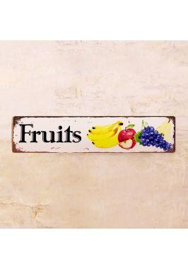 Жестяная табличка Fruits