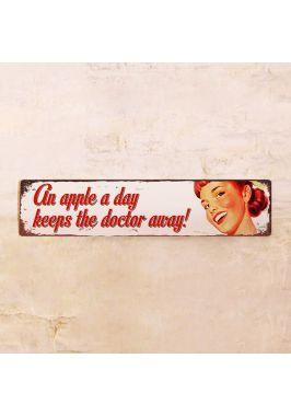 Табличка An apple a day keeps the doctor away