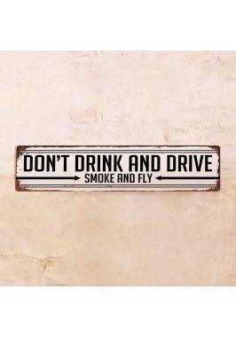 Жестяная табличка Don't drink and drive