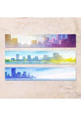 Триптих из трех табличек Город