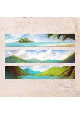 Триптих из трех табличек Остров