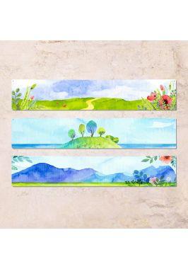 Триптих из трех табличек Весна