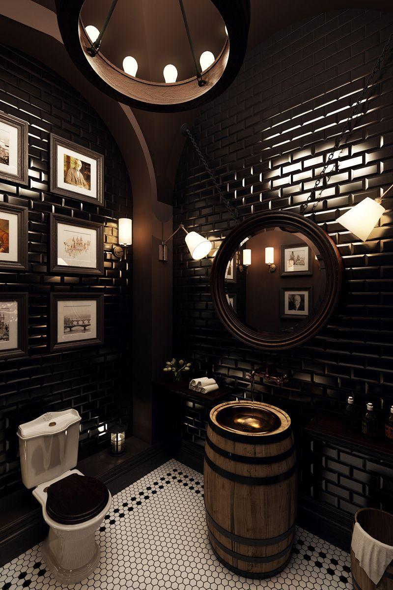 Аксессуары для барбершопов в готическом стиле