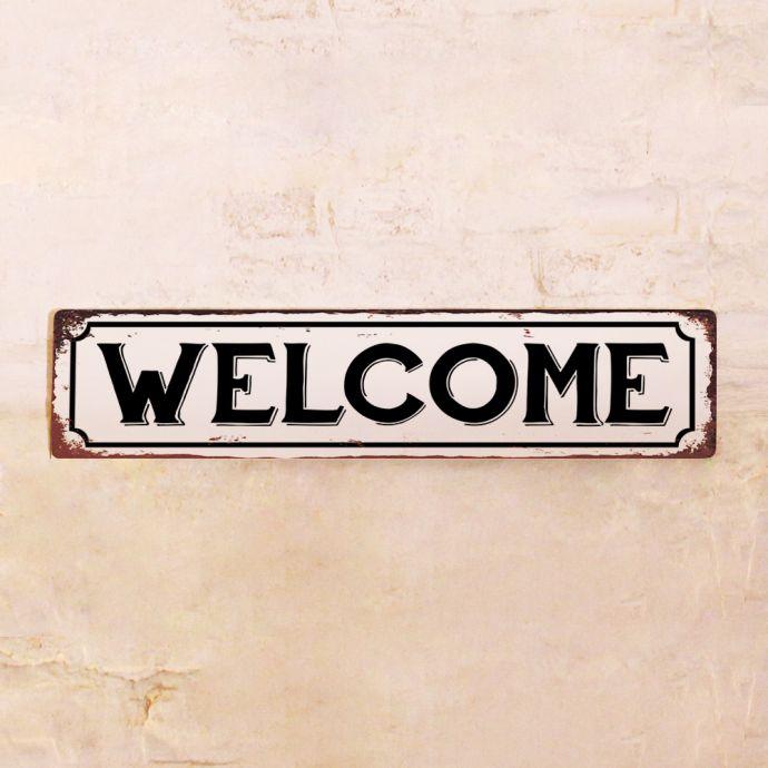 Металлическая табличка Welcome
