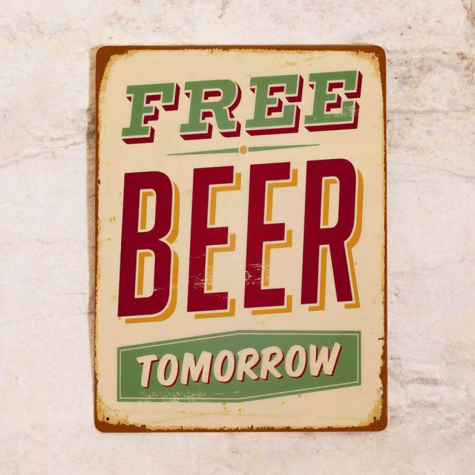 интерьерная табличка для бара пиво