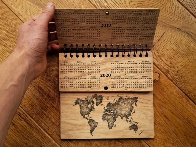 деревянные календари