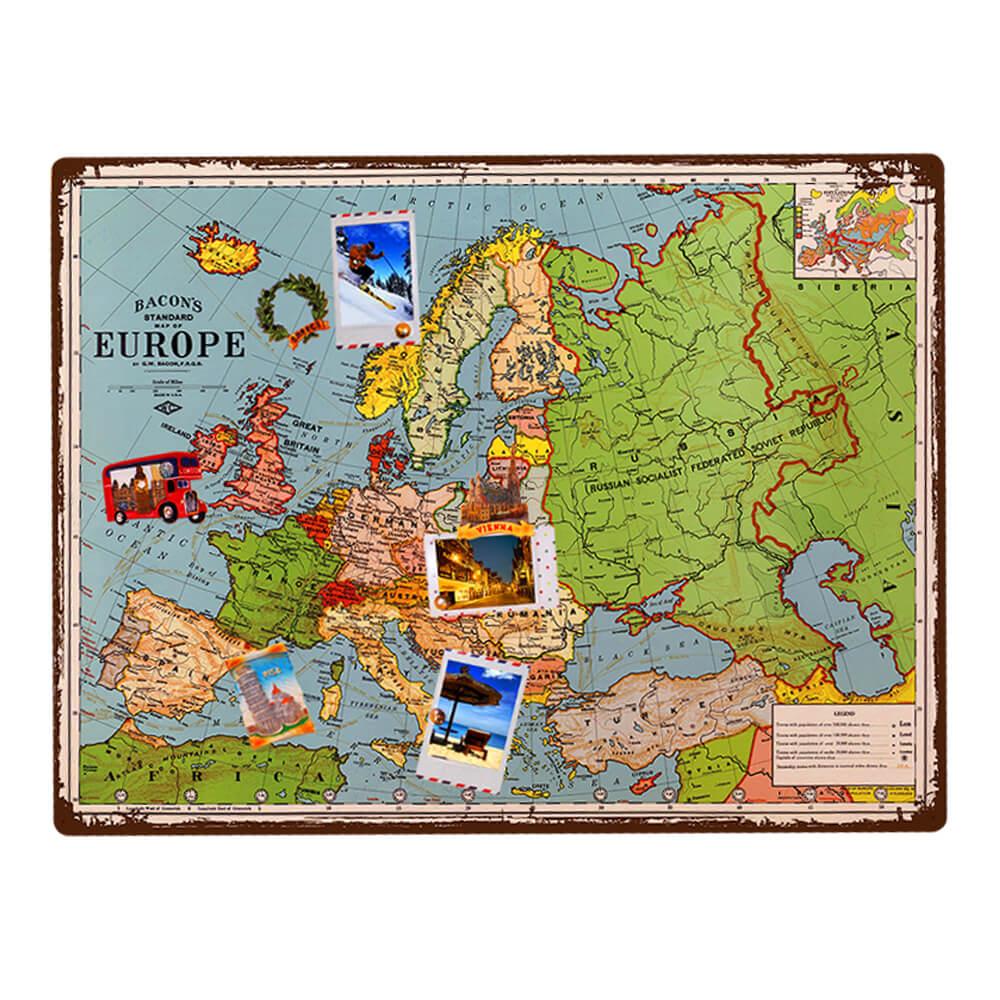 Карты мира на металле