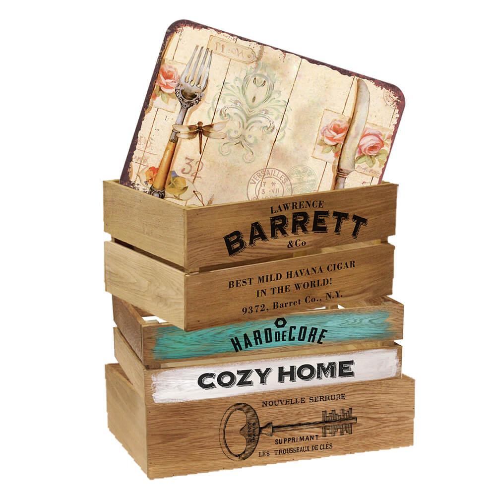 Деревянные ящики для дома