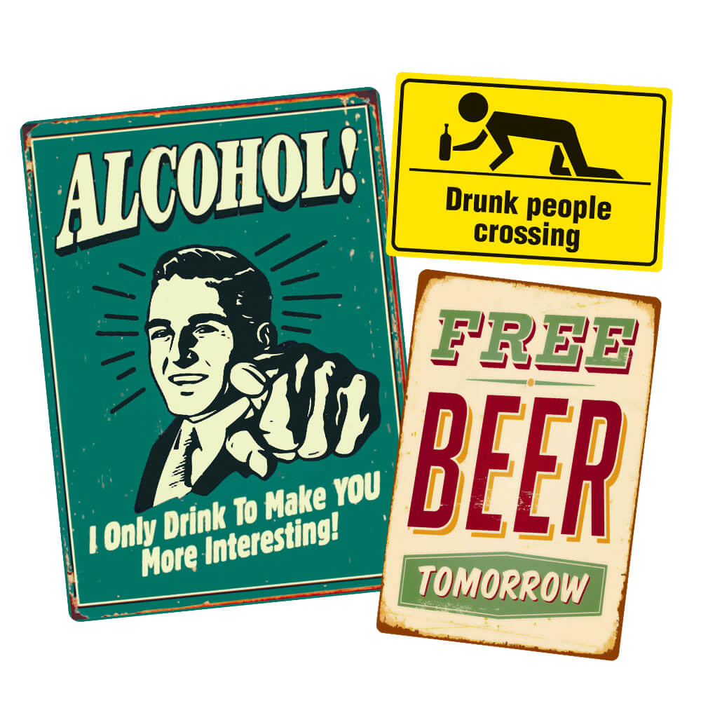 Таблички для баров